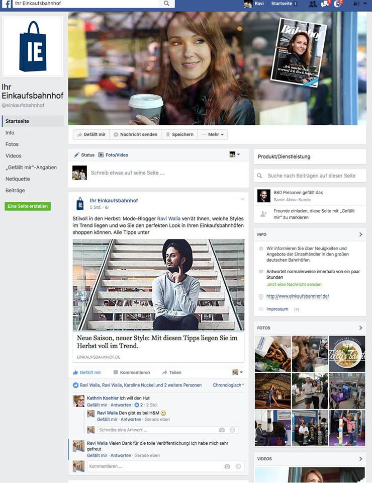 dein Bahnhof Magazin - Facebook Feature
