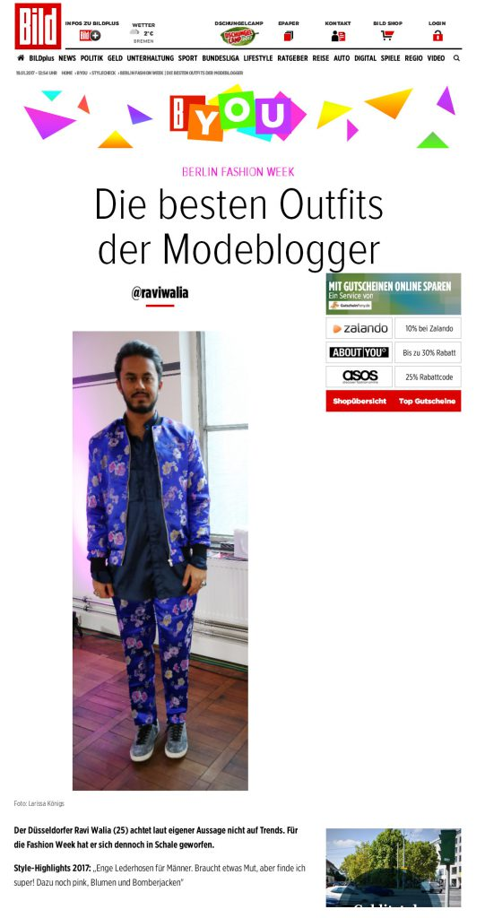 BILD Online - Besten Fashion Weeks Berlin Outfits